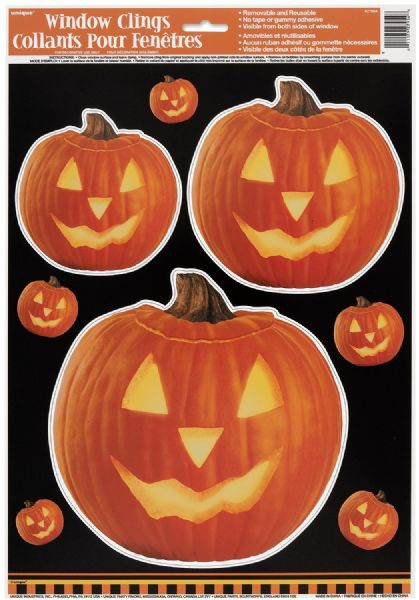 Pumpkin Glow Window Clings Sheet